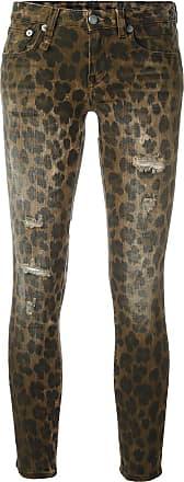 R13 leopard print skinny jeans - Brown
