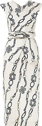 Framed Vestido midi Chain estampado - Neutro