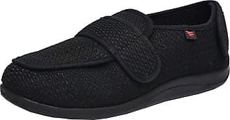 Insun Unisex Extra Wide Shoes for Edema Orthopaedic Fasciitis Black 5 11.5 UK Wide Women/13.5 UK Wide Men