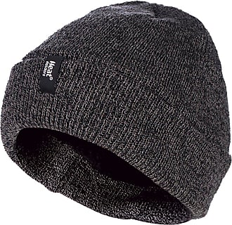 Heat Holders Mens 3.6 tog Fleece Lined Thermal Turn Over Cuff Winter Beanie Hat 3 Colours (One Size, Grey)