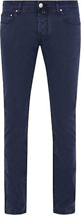 Jacob Cohen Slim-leg Cotton-blend Chino Trousers - Mens - Blue