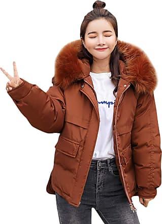 TOMWELL Women Warm Long Jacket Ladies Thick Parka Overcoat Winter Windbreaker Outwear Casual Sweatshirt Long Hoodies Hooded Pocket Long Cotton Coat Elegant Ca