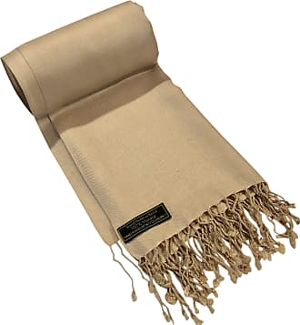 CJ Apparel Light Gold Solid Colour Design Nepalese Shawl Seconds Scarf Wrap Stole Throw Pashmina NEW
