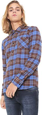 Hurley Camisa Hurley Reta Xadrez Marrom/Azul