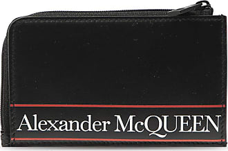 Alexander McQueen Leather Card Case Mens Black