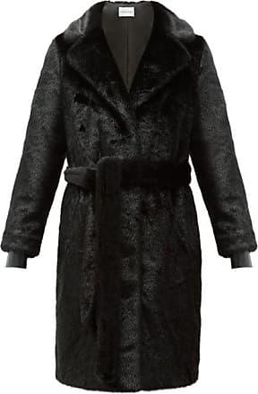 Stand Studio Juliet Waist-tie Faux-fur Coat - Womens - Black