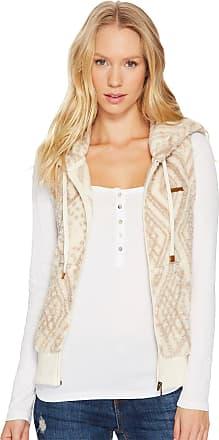 Billabong womensJ620MSIDSide by Side Fur Vest - White - Large