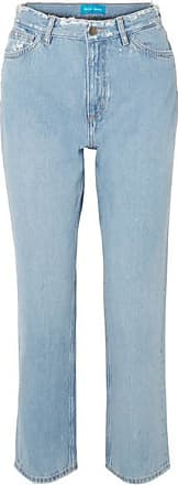 Mih Jeans Jeanne High-rise Cropped Distressed Straight-leg Jeans - Light denim