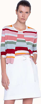 Akris Knitted Cardigan with Multicolor Stripes