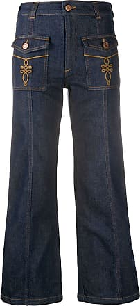 See By Chloé mid-rise flared jeans - Azul