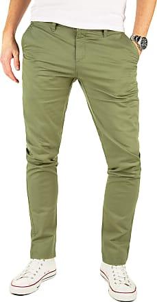Yazubi Mens Trousers Chinos Pants Kyle Slim Fit Cotton- Forest Lime Olive Khaki, Green (Dusky 4R170517), W31/L32