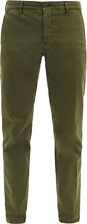 Incotex Slim-fit Stretch-cotton Blend Chino Trousers - Mens - Green