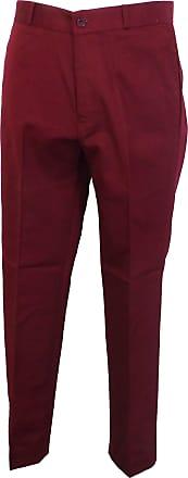 Relco New Mod Retro Sta Press Trousers Burgundy Wine 32