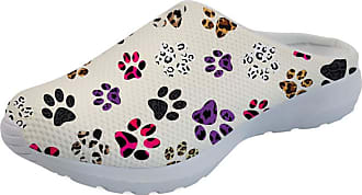 Coloranimal Colorful Animal Paws Leopard Print Beach Aqua Sandals Unisex Garden Clogs Summer Comfortable Breathable Sip On Slipper Flats