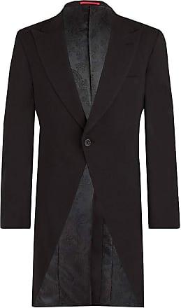 Dobell Mens Black Morning Suit Tailcoat Regular Fit Peak Lapel Classic Wedding Jacket-40R