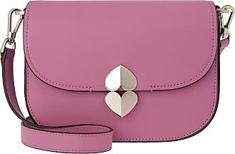 Kate Spade New York Small Saddle Bag Ruffled Pansy Umhängetasche lila