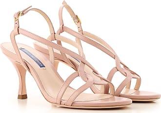 Stuart Weitzman Sandals for Women On Sale, Rose, Leather, 2017, 10