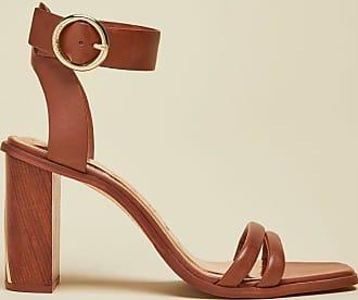 Ted Baker Block Heel Sandals in Tan ELASANA, Womens Accessories
