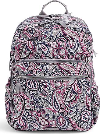 Vera Bradley Womens Signature Cotton XL Campus Backpack Bookbag, Gramercy Paisley, One size