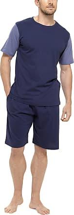 Blue or Purple Tom Franks Stripe Short Pyjama Set