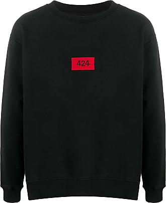 424 Sweatshirt mit Logo-Stickerei - Schwarz