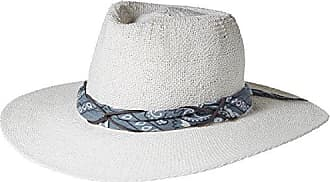 ále by Alessandra Womens Bailey Woven Toyo Sunhat Packable & Adjustable, White/Grey, One Size