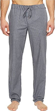 HANRO Mens Long Woven Check Pant