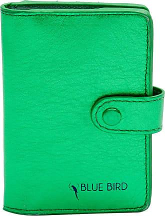 Blue Bird Porta Cartão Metalizado - Mulher - Verde - Único BR