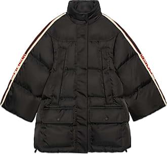 a2633c76e Gucci Padded nylon cape jacket with Gucci stripe