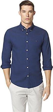 cefdbe09 Tommy Hilfiger Mens New England Solid Oxford Shirt, Navy Blazer, S