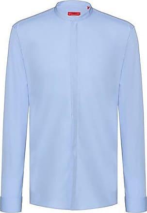 0fd91b71ce222a HUGO BOSS Extra Slim-Fit Hemd aus Baumwoll-Popeline mit bügelleichtem Finish