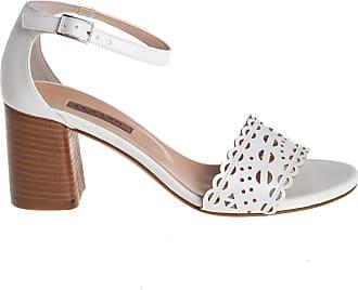 Albano sandalo pelle traforata, 35 / bianco