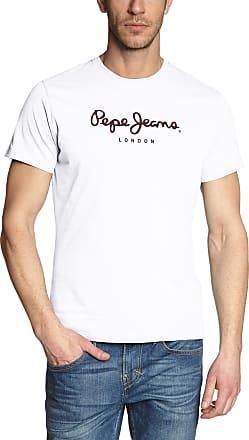 Pepe Jeans London Mens Eggo Pm500465 T-Shirt, White, X-Small