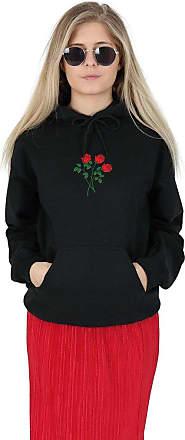 Sanfran Clothing Sanfran - Rose Bunch Flower Summer Fashion Blogger Hoody Hoodie - Medium/Black