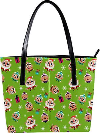 Nananma Womens Bag Shoulder Tote handbag Zipper Purse Top-handle Zip Bags - Cute Santa Claus And Child