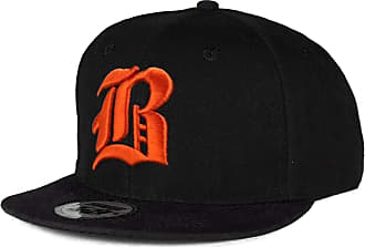 morefaz New Baseball SnapBack Cap Flexfit Gothic Letter B Trucker Hat Caps Snapback (B Black Orange) MFAZ Morefaz Ltd
