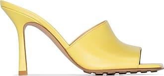 Bottega Veneta open-toe 90mm mules - Amarelo