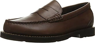 0a801a71937 Rockport Mens Shakespeare Circle Penny Loafer- Brown Burnished-8 XW