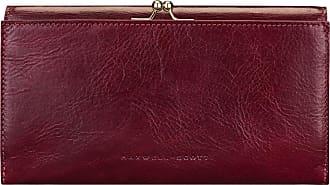 49cd349351fc1 Maxwell Scott Maxwell-Scott große Damen Leder Geldbörse mit Bügelverschluss  in Weinrot - Marcialla -