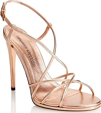 Tamara Mellon Karat Rose Gold Nappa Laminata Sandals, Size - 35.5