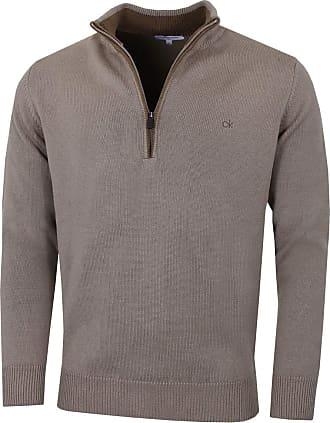 Calvin Klein Mens Cotton Sweater - Mocha - 3XL