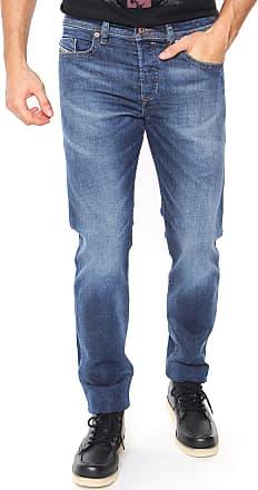 Diesel Calça Jeans Diesel Regular Buster Estonada Azul