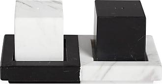 Jonathan Adler Canaan Salt and Pepper Shakers - White/Black Marble