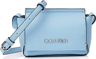 c835b2146 Calvin Klein Stitch Flap Crossbody, Bolsos bandolera Mujer, Azul (DUSTY  BLUE),