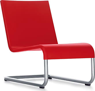 Vitra 06 Lounge Chair Red & Stainless Steel