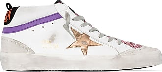 Golden Goose Mid-Star logo-patch sneakers - Branco