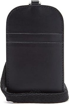 A.P.C. Logo-debossed Leather Card Holder - Mens - Black