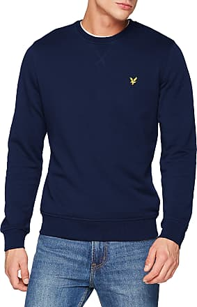 Lyle & Scott Lyle and Scott Men Crew Neck Sweatshirt - Cotton - XXL Navy