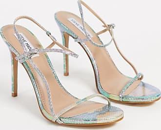 Steve Madden Oaklyn strappy heeled sandal in iridescent snake-Multi