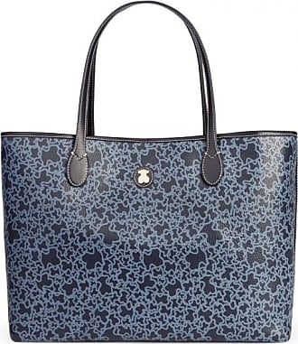 53e7ee9f77cc Tous Large navy colored canvas kaos mini tote bag